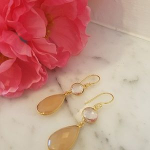 Stunning Pear Drop Semi precious stone earrings